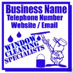 WINDOW CLEANING BUSINESS MAGNETIC SIGN CAR / VAN 1 PAIR